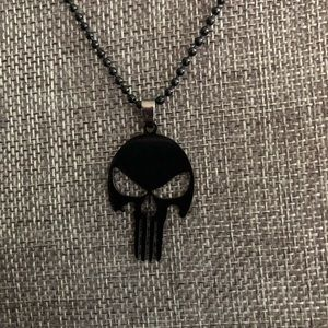 Jewelry - Black punisher skull necklace